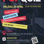 20 april / Popquiz in Hotel en Brasserie De Guldenberg